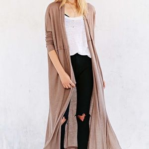 Urban Outfitters long duster cardigan, xs